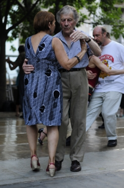 Fondness and pleasure while dancing Tango in San Telmo, Buenos Aires.