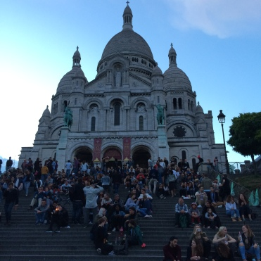 The perfect sunset hangout - the stairs in front of the Sacré-Cœur