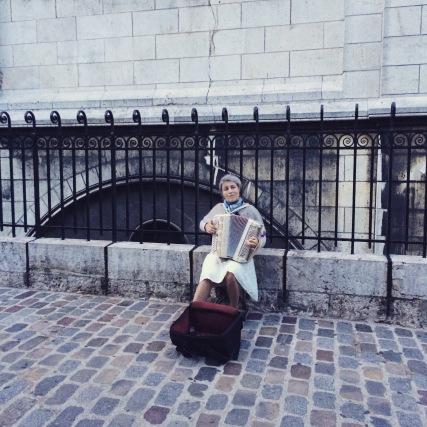 Accordionist in Montmartre