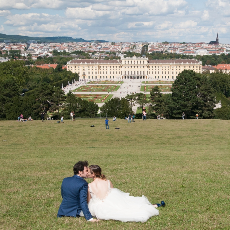 First year wedding anniversary pic at Schloss Schönbrunn, Vienna.