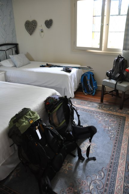 Our bags already waiting for us in our room thanks to AMS Scotland luggage service