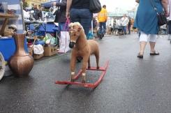 Horse on sale at the flea market