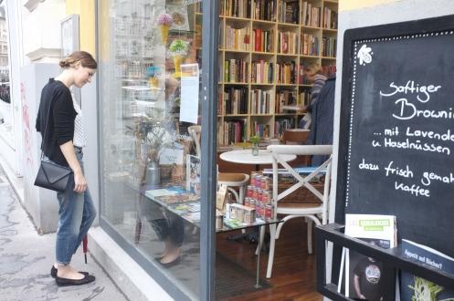 A cookbook store near the Naschmarkt