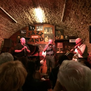 Enjoying the music and atmosphere of Jazzland, Vienna's oldest jazz club