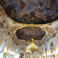 One of the many abundantly rooms inside Schloss Schonbrun