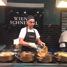 Third frying session for the Wiener schnitzel coming up