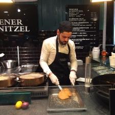 Wiener Schnitzel foodstall at the Vienna Film Festival