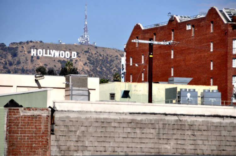 Hollywood sign from a less glamourous point of view
