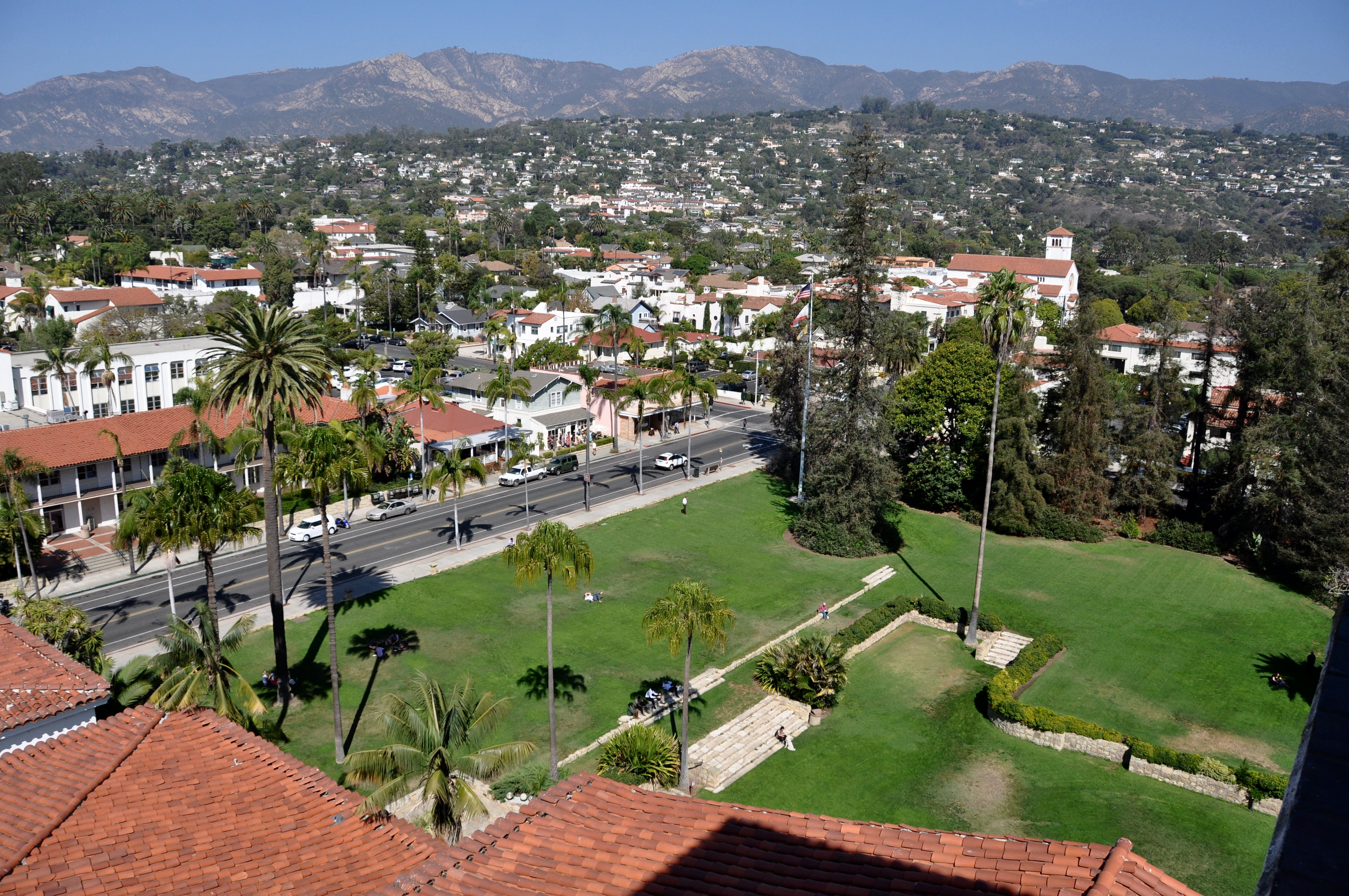 Santa Barbara from the courthouse clock tower