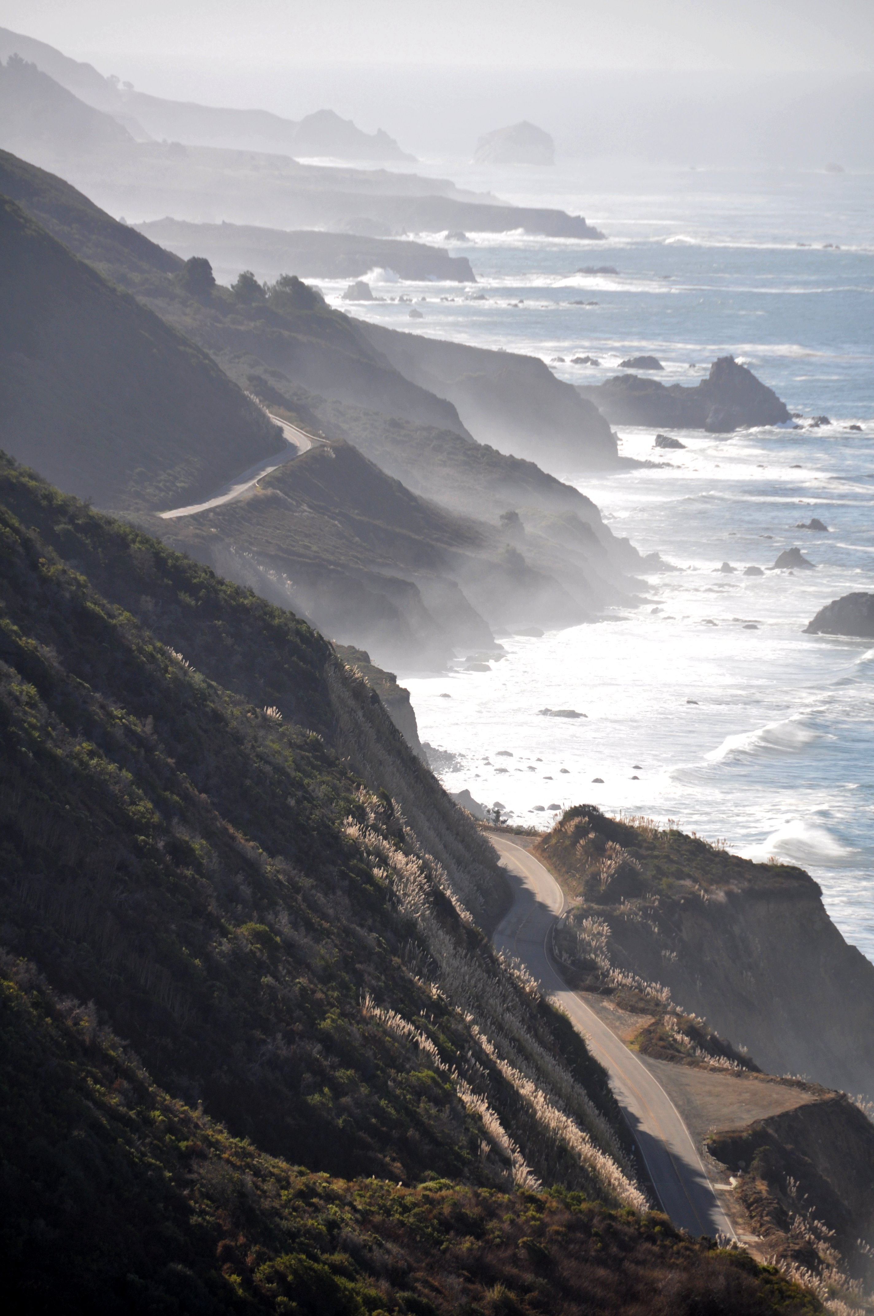 View on Highway 1 from the Nacimiento-Fergussion Road