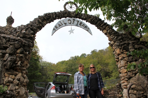 With Marie at the Trail of Tears arch
