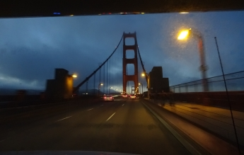 Entering San Fransisco via the Golden Gate Bridge