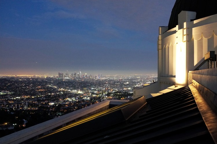 Night view of LA from Grifith Observatory