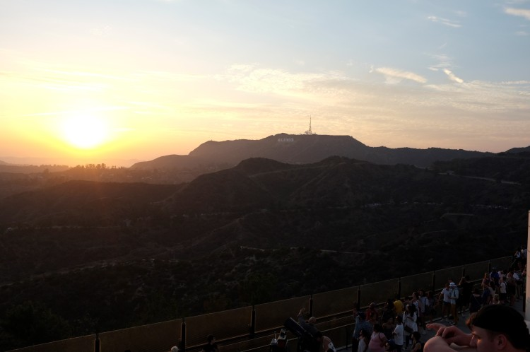 Sunset and the Hollywood Sign