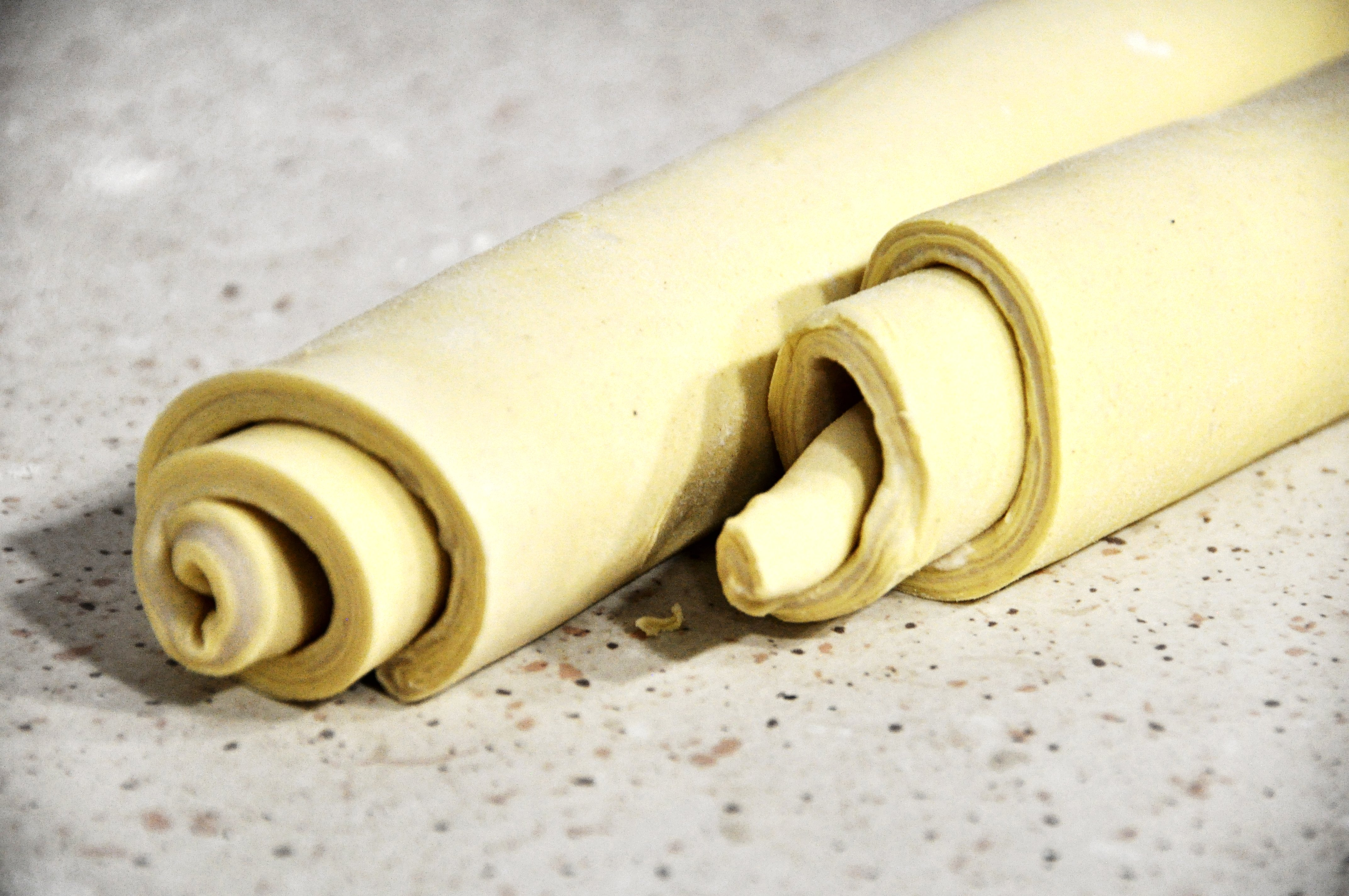 Rolled up dough