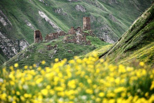 Zakagori Fortress in Georgia's Truso Valley