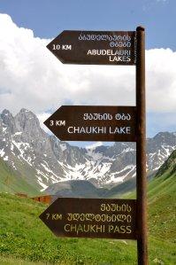 Juta Valley hike signage